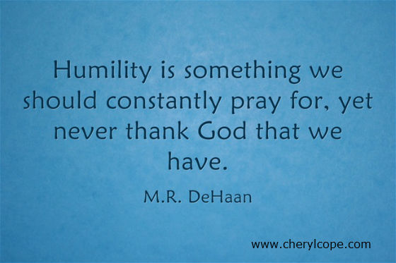 humility quote on blue background