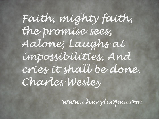 quote on faith by Charles Wesley
