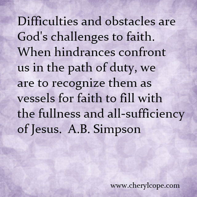 quote on faith by a b simpson