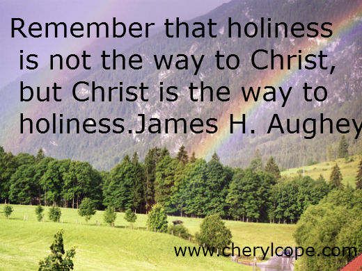 holiness quote by j h aughey