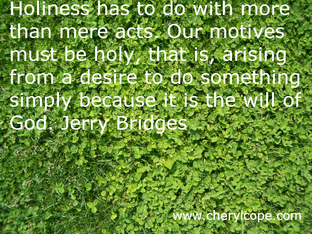 holiness quote by jerry bridges