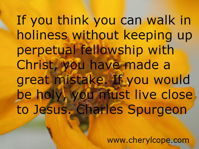 holiness quote by spurgeon