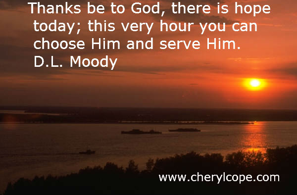 quote on hope by d l moody