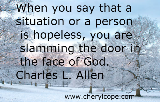 quote on hope by charles l allen