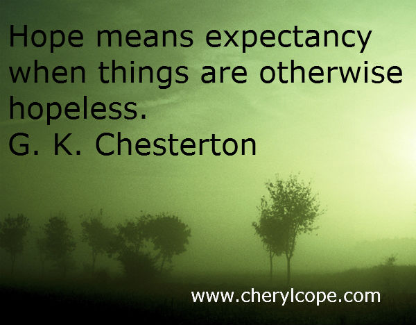 quote on hope by g k chesterton