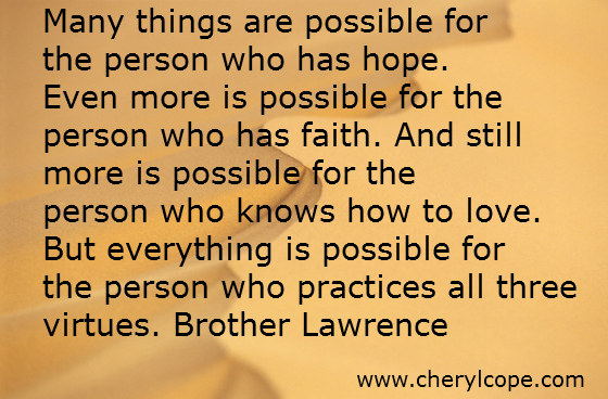 quote on hope by brother lawrence