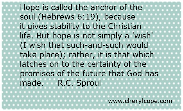 quote on hope by r c sproul