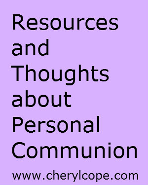 resources-and-thoughts-about-personal-commuion