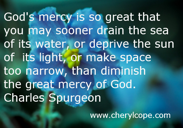 God's Mercy Quotes Amusing Mercy Quotes And Scriptures  Cheryl Cope