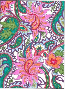 From Creative Haven Floral Designs Coloring Book Books